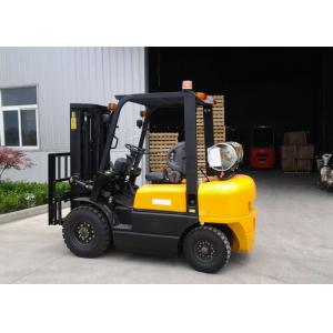 China Dual Fuel Forklift Industrial Forklift Truck ,  3000MM Lifting Height Propane Tank Forklift on sale