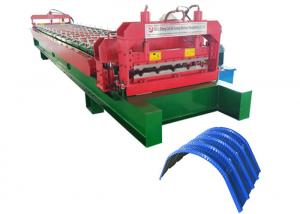 China Customized Color Metal Roofing Roll Former , Touch Screen Metal Rollforming Equipment on sale
