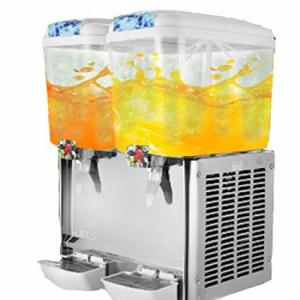 China Commercial Cold Beverage Dispenser / Fruit Juice Dispenser Machine Double Head on sale