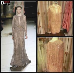 China 2015 elegant latest Real Picture Long Sleeves Eli Saab Short Evening Dress on sale