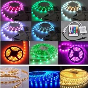 China free shipping RGB color 12v 60led/meter 3528 300LED led strip light Led light strip on sale