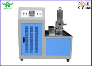 China Blue Environmental Test Chamber , Rubber Plastic Low Temperature Brittleness Test Instrument -80℃~0℃ on sale