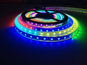China 5V WS2813 Dual data New Ver. WS2812B 5050 RGB LED Strip 5M 300SMD IP67 Black PCB on sale