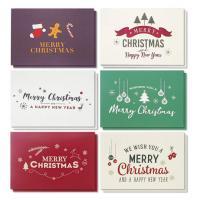 Winter Holiday Greeting Cards , Retro Modern Design Merry Christmas Card