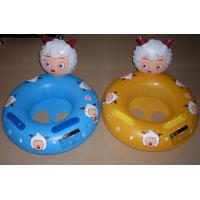 Custom popular water inflatable child cartoon floating boat and colorful BB boat