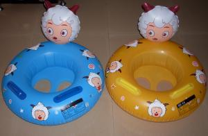 China Custom popular water inflatable child cartoon floating boat and colorful BB boat on sale