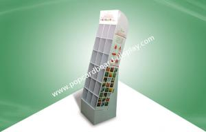 China Recycled floor Display Racks POP Cardboard Displays with pocket for Fragrance Bags on sale