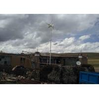 Three Phase Off Grid Wind Turbine With Guyed Tower Digging Pole Energy Supply