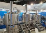 Automatic / Semi Automatic Craft Beer Brewing Equipment 1000L 3 Vessels