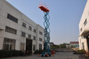 China 11 воздушной метр платформы гидравлического подъема с расширением нагружая 100кг для крана поднимаясь, ссиссор структура on sale