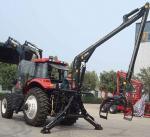 Os reboques do log do CE com lutam o preço baixo de China do equipamento da silvicultura do reboque do log de Farma do guindaste móvel com guindaste