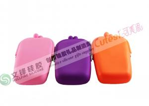 China Non - stick Cute Red, Black, Purple Womens Silicone Coin Purse Bag on sale