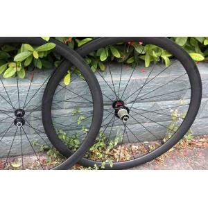 Quality 50mm Monocoque Carbon Bike Wheelset 20-24 Spokes Wheelset of UD Matt / Gloss for sale