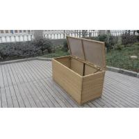 Resin Wicker Storage Box , All Weather Plastic Rattan Cushion Box