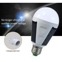 7W 12W led bulb solar emergency rechargeable lamp E27 Li battery CE isolated driver 5630 chip Epistar 80LM 80RA PC cover