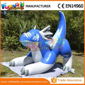 China Blue Inflatable Cartoon Characters Advertising Inflatable Sea Dragon Shape on sale