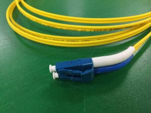 China High Density Cabling Fiber Optical Patch Cord Mini Short Boot LC To Angled Boot LC 9/125um on sale