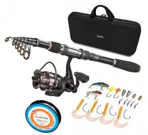 China Black Durable Nylon + EVA Material Fishing Rod Case With Handle on sale