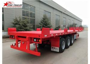 China Custom Air Suspension 18 Wheeler Flatbed Trailer For Heavy Duty Cargo on sale