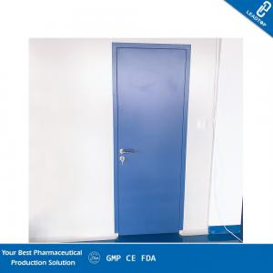 China Single Sliding Steel Pharmaceutical Doors / GMP Doors Sealed Structure on sale