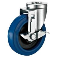 China Industrial Bolt Hole Swivel Caster , Swivel Head Polyurethane Caster Wheels on sale