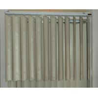 89mm pvc vertical blinds for windows with s shapes vane and wand control