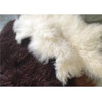 Long curly Sheepskin Material Natural White Tibetan lambswool Mongolian fur hides
