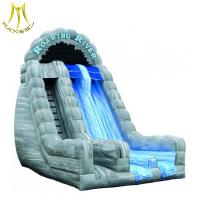 China Hansel  children outdoor play ground design amusement park inflatable slide on sale