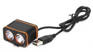 China Long Pressing USB Rechargeable Bike Headlight , High Lumen Mountain Bike Headlamp on sale