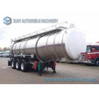 33000 L Acid Solution Chemical Tank Trailer 3 Axle Aluminum Tanker