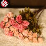 China high quality artificial silk rose flower for festival gifts home decor wholesale