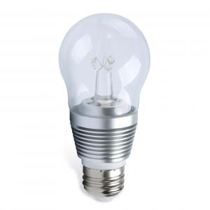 China Aluminum 7w E27 Clear LED Light Bulb Bedside lamp , 3000K LED Globe Light on sale