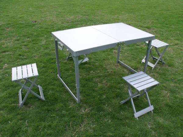 Promotion Folding Camping Picnic Table And Chairs For People - Picnic table supplier