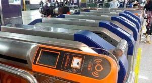 China Rainproof Top grade building acees solution via new style sliding barrier turnstile for Metro Station on sale