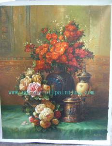 China oil painting, oil painting reproduction, flower oil painting on sale
