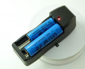 China EU Plug Dual Universal Lithium Ion Battery Charger , 2 Bay Battery Charger on sale