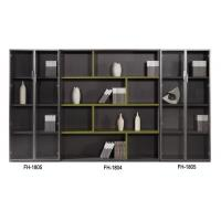 Melamine Faced Particle Board Office Wood Combination File Cabinet With Glass Door