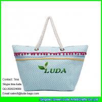 LUDA korea fashion ladies handbag paper straw beach handbags trendy laides handbags