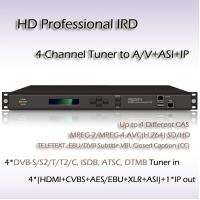 4-Channel HD Professional IRD DVB-S2 TO UDP/IP 6MPTS/128SPTS 4*HDMI Output RIH1304_IP