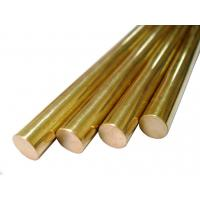 Round Pure Brass Copper Alloy Bar Diameter 5 - 100mm For Glasses Frames