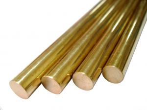 China Round Pure Brass Copper Alloy Bar Diameter 5 - 100mm For Glasses Frames on sale