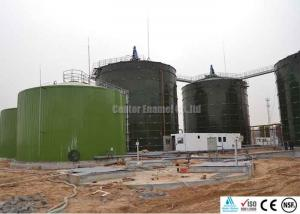 China Enamel Coated Glass Lined Steel Tanks With Double Coating Internal And External on sale