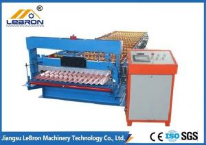 China 2018 new type corrugated roof sheet roll forming machine made in China PLC Control Blue color PG and PI material on sale