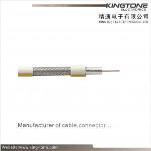 China PE Jacket with Messenger RG6 CATV Coaxial Cable 18AWG CCS Conductor for Satellite TV on sale
