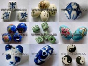 China Ceramic Beads - Blue and White Ceramic Beads on sale