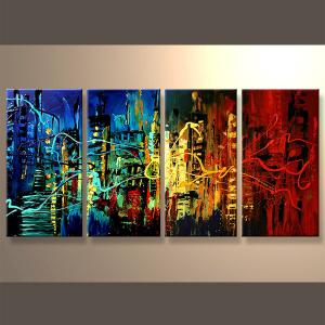 China Popular modern handpainted abstract acrylic painting on sale