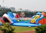 O campo de jogos/crianças infláveis azuis da água molha o certificado de encerado do PVC de Plato do parque
