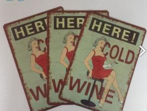 China Restaurant Vintage Tin Plate Signs Home Decoration Personalized Metal Signs on sale