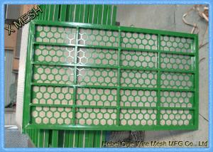 China Steel Frame Sieving Mining Screen Mesh Shale Shaker Screen Rectangular Hole on sale