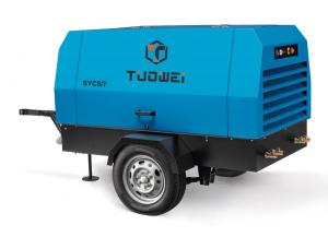 China construction diesel driven portable air compressor for mining on sale